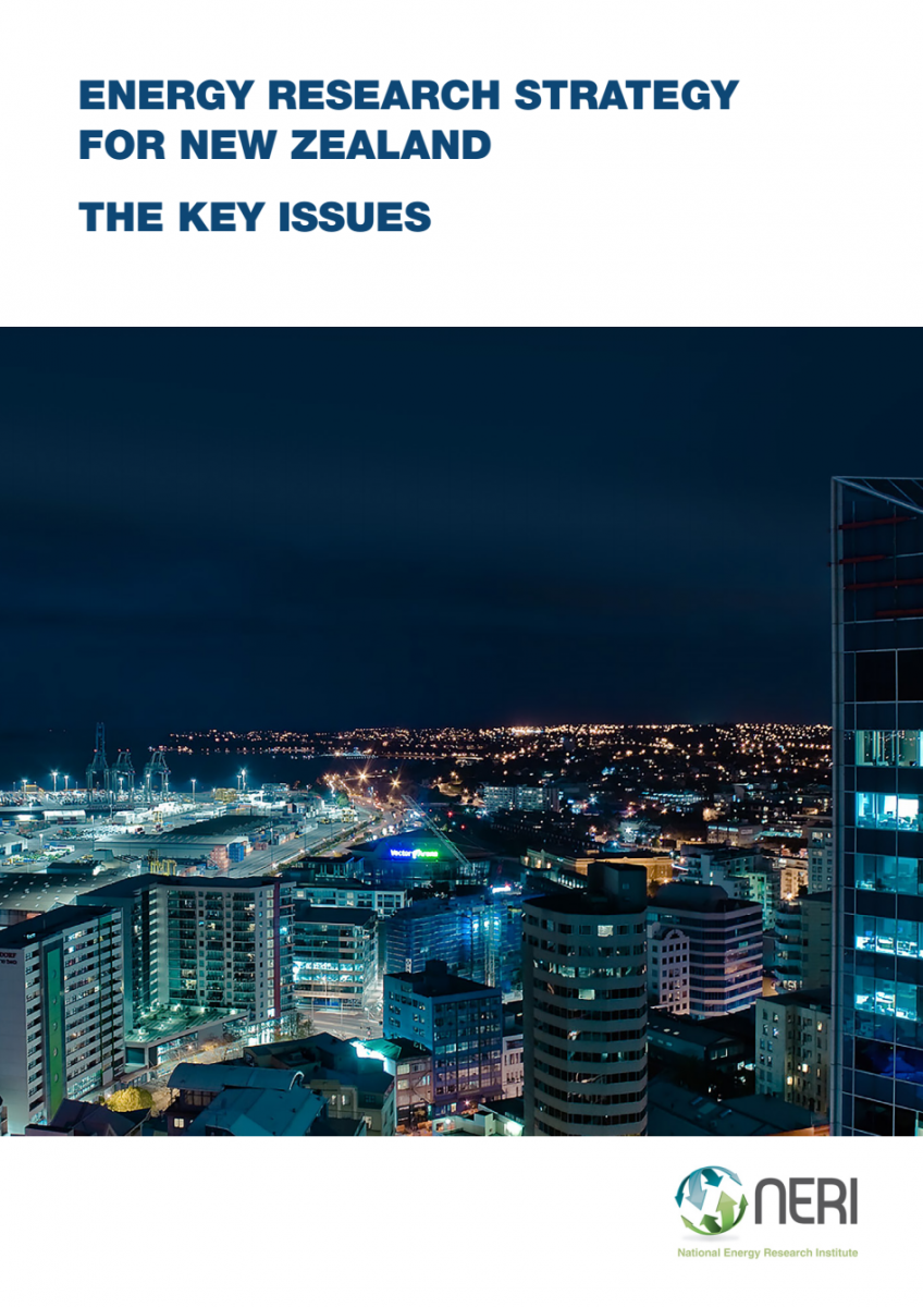 Cover of the NZ Energy Research Strategy