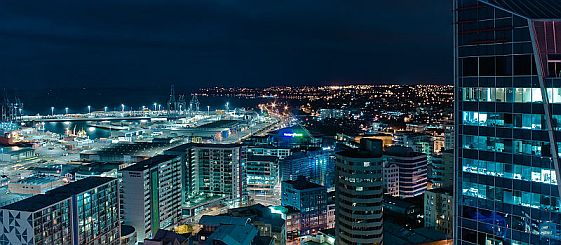 Auckland night panorama